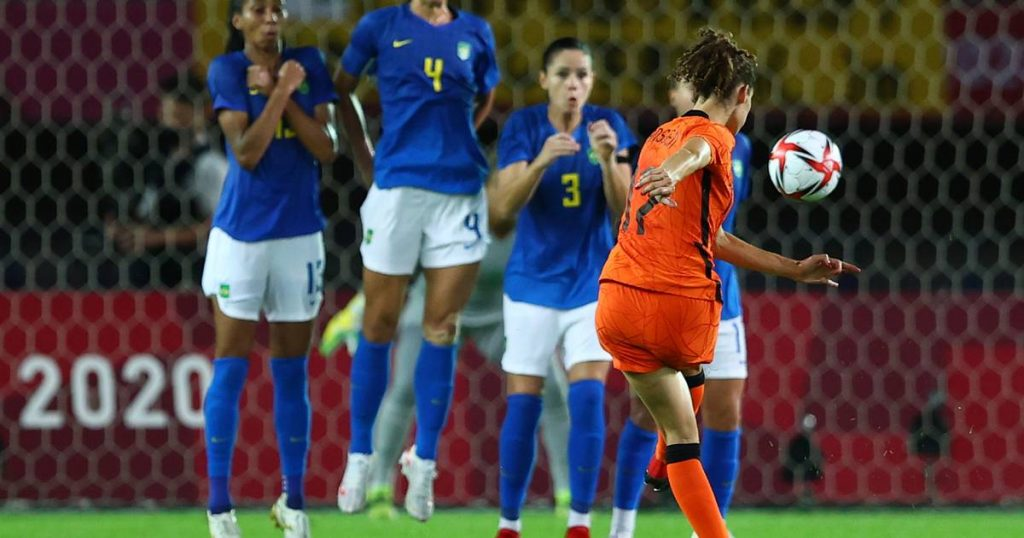 Lionesses vs. Brazil goal show does not result in a winner    Netherlands at the Olympics