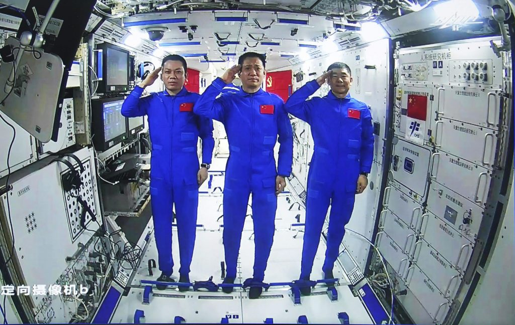 Chinese astronauts enter space for the first time outside the new station