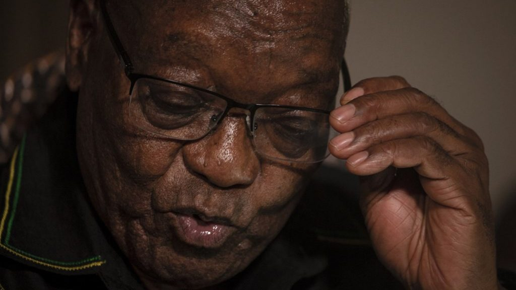 Former South African President Zuma surrenders to police