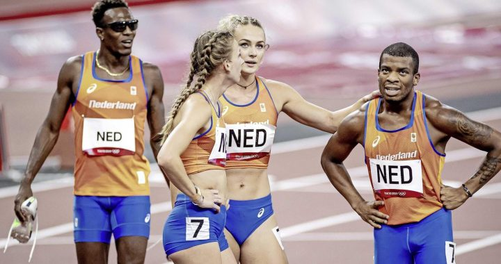 Netherlands narrowly miss medal in mixed 4x400-meter relay |  sport