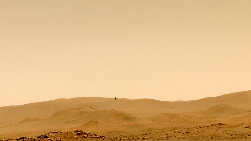 The mini helicopter flew for miles in the thin air of Mars, reaching an all-time high