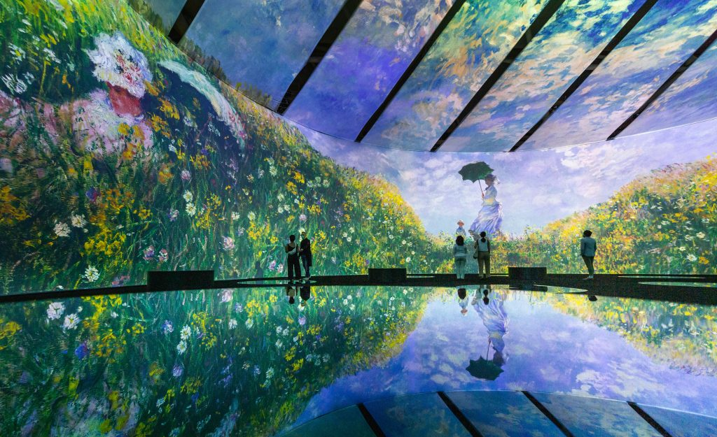 Tired of the already immersive Van Gogh experience?  Three Distinct Companies Launch Immersive Competitive Experiences at Monet
