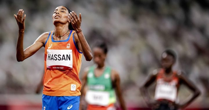 Athlete Hassan makes his first gold attempt at 5,000 meters