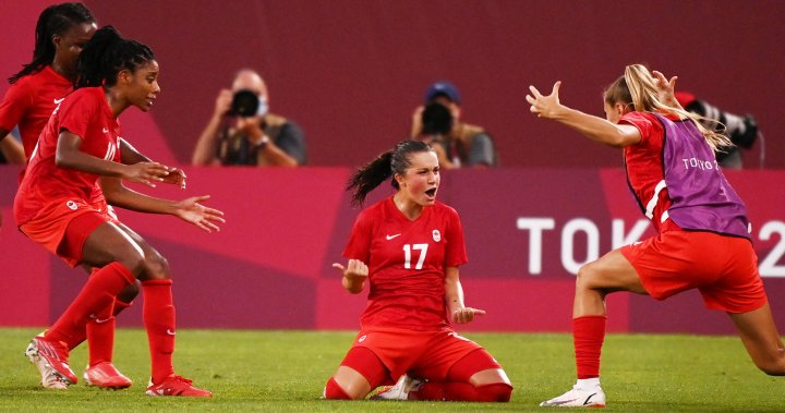 Canada beat the United States 1-0 in Olympic women's soccer