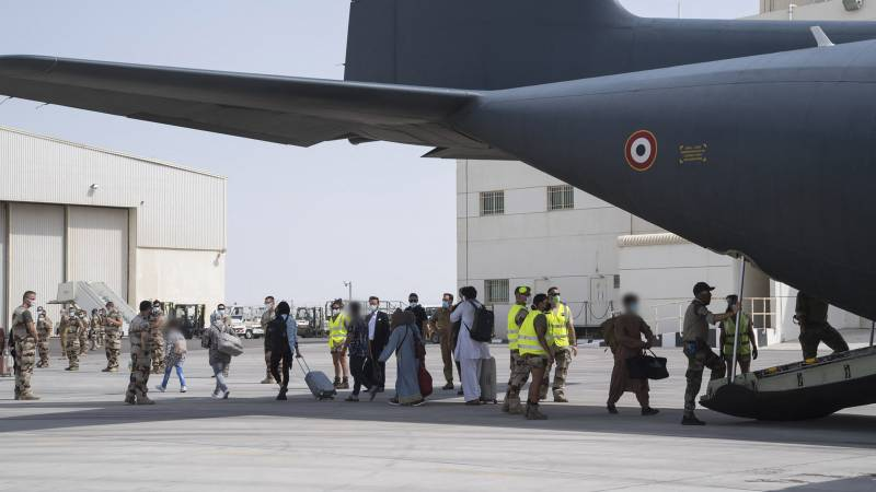 """France has already instituted a """"humanitarian airlift"""" for the Afghans in June"""