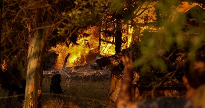 Greek villages evacuated due to forest fire