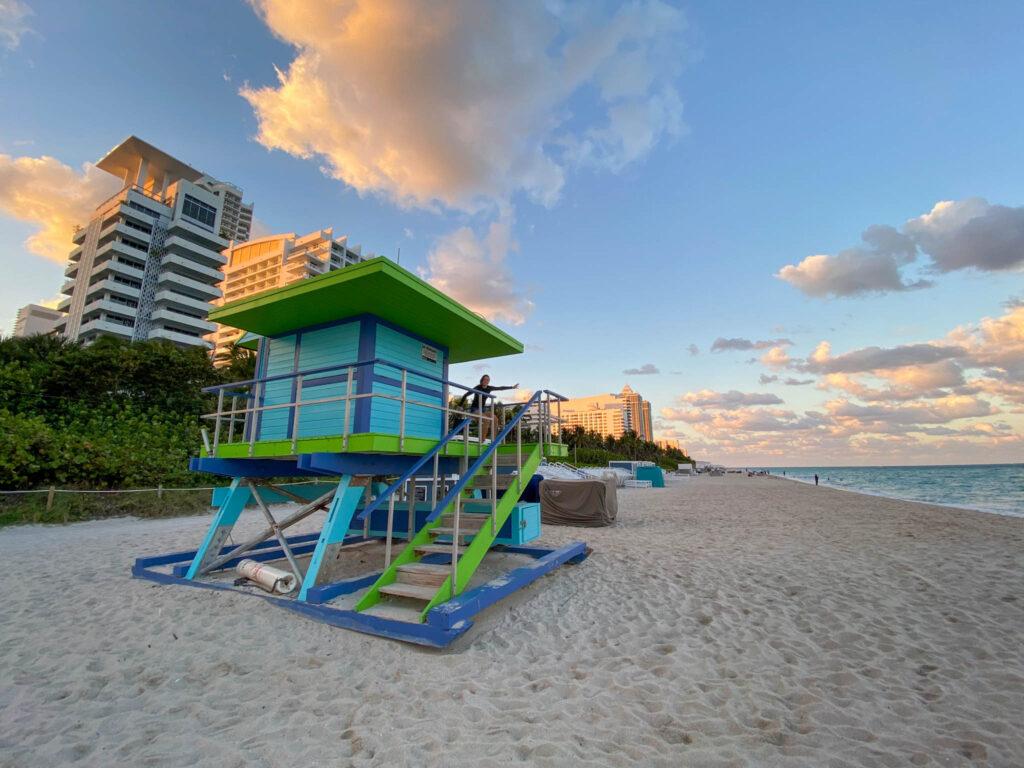 The white sands of Miami Beach