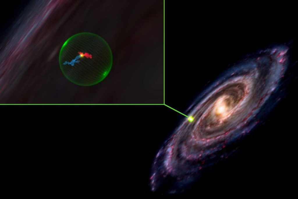 A huge spherical void discovered in space
