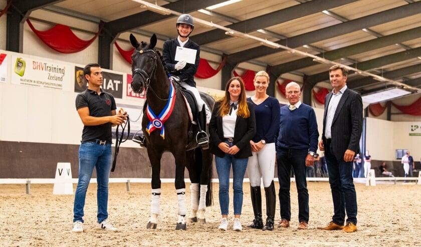 Hexagon's Gorgeous Black Art Hoogste score Duvals Zeeland Dressage Cup