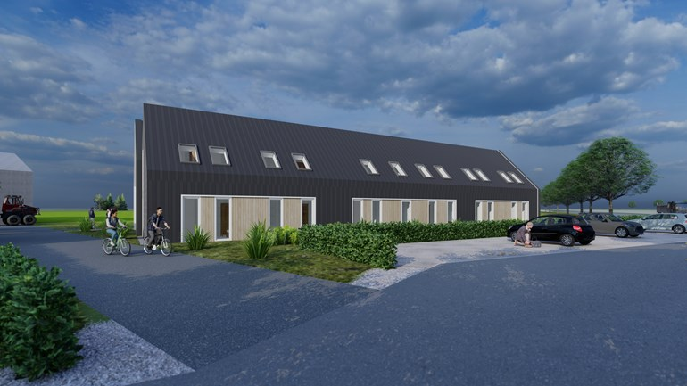 New housing for migrant workers in the Heinkenszand countryside