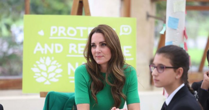 twins!  Duchess Kate and Countess Sophie glow in dark green