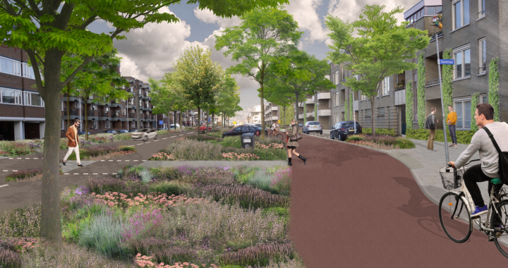 Nieuwe Boschdijk goes green, with more space for cyclists and pedestrians