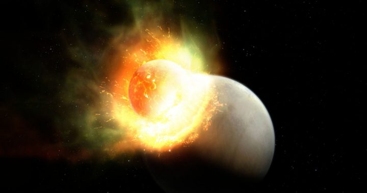 Massive collision costs the planet its atmosphere
